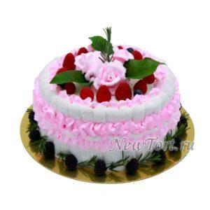 Торт розы с ягодами