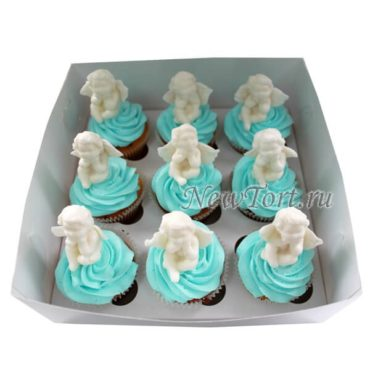 Торт капкейки с ангелочками