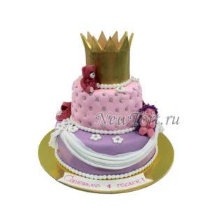 Торт Золотая корона на годик