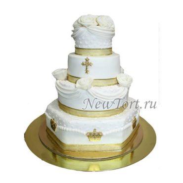 Торт на большие крестины