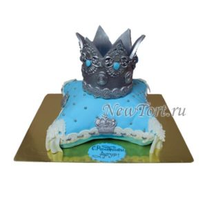 Торт корона на крещение