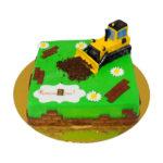 Торт с гусеничным трактором
