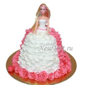 Торт-кукла с рюшками