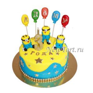 Торт Миньоны и шарики