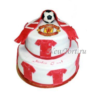 Двух ярусный  торт для футболиста