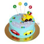 Торт с техникой на 3 года