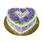 Свадебный торт с лебедями СТ85