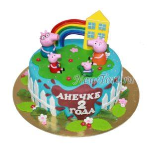 торт Свинка пепа и домик