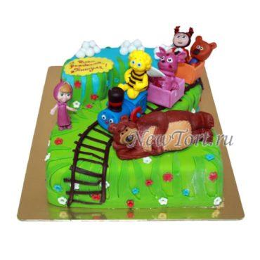 Торт Любимые персонажи на 2 года