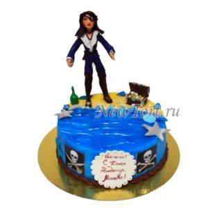 Торт девушка пират