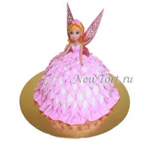 Кукла-фея розовая