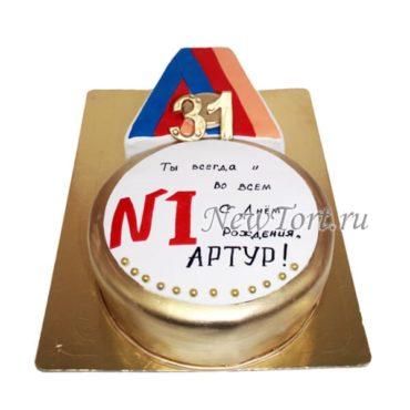 Торт в виде Медали