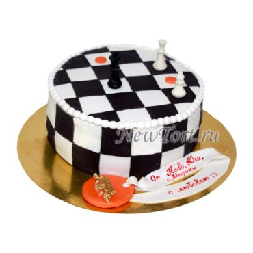 Торт шахматы круглый