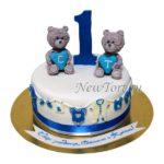 Торт Медвежата для близняшек