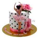 Стильный торт с балериной