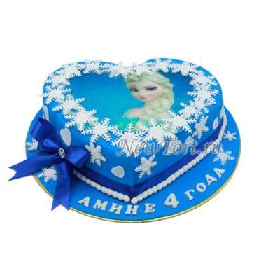 Торт Эльза на сердце