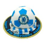 Торт в виде мяча с логотипом