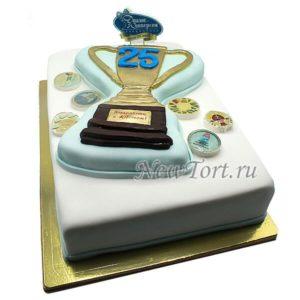 Торт Кубок и монеты
