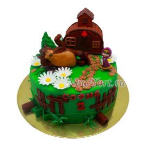 Торт Медведь у дома