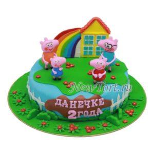 Торт свинка Пеппа и домик