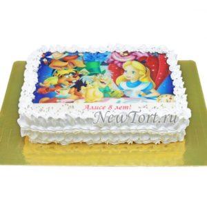 торт Алиса на картинке