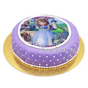 Сиреневый торт с Софией