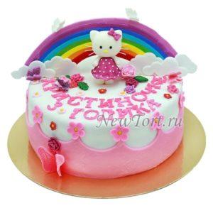 торт Китти и радуга