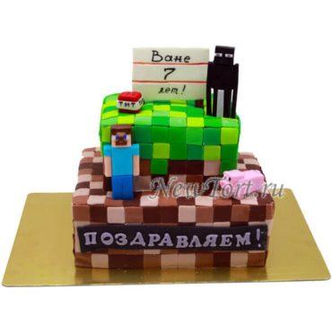 Большой торт Майнкрафт