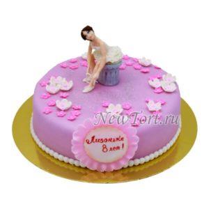 Сиреневый торт для балерины