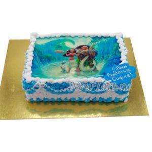 Торт Моана на картинке