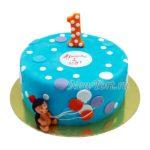 Торт ёжик с шарами на годик ТГ130