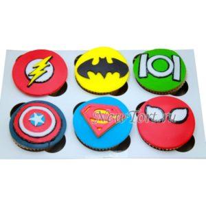 Капкейки с супергероями