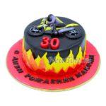 Торт огненный байк