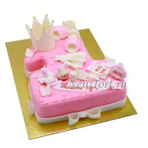 Торт в виде единички для девочки