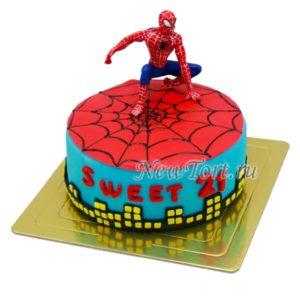 Торт - человек Паук на паутине