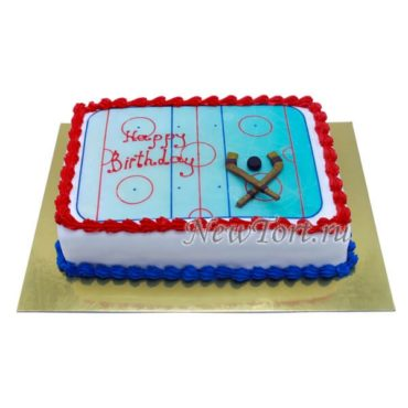 Торт настоящего хоккеиста