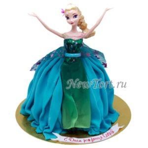 Торт Эльза кукла