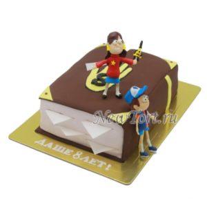Торт-книга Гравити фолз с георями