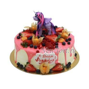 Детский торт Литл пони и ягоды