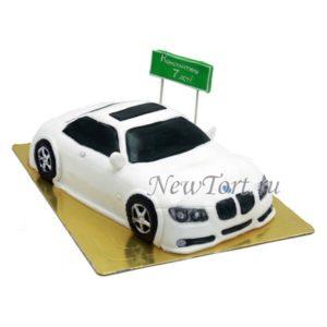 BMW с дорожным знаком