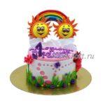 Торт радуга и два солнышка