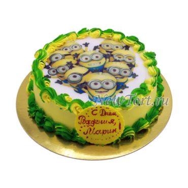 Торт Миньоны без мастики