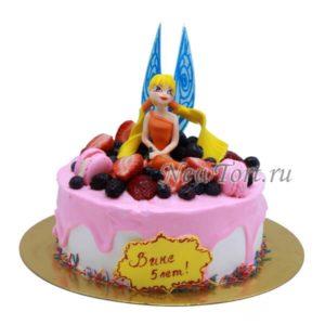 Торт Винкс в ягодах