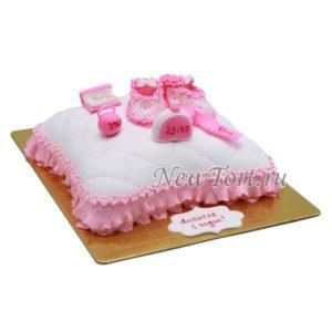 Торт подушка с метрикой