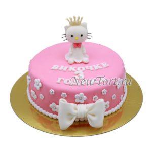 торт Хело Китти с короной
