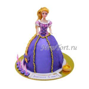 Торт-кукла Рапунцель