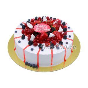 Ягодный торт со смородиной