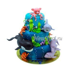 Торт водный мир Октонавтов