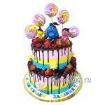 Большой ягодный торт