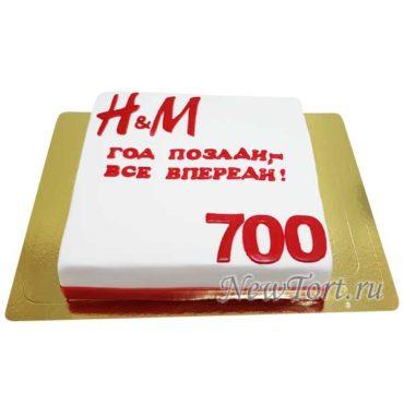 Торт с логотипом из мастики